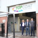 John Murphy from TopCoat Coatings with Jeremy Wilson and Caroline Whiteside from the John Wilson Memorial Trust