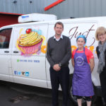 Sue-Ellen from Just Desserts along with Jeremy Wilson and Caroline Whiteside from the John Wilson Memorial Trust