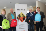Madlug founder Dave Linton with representatives from the John Wilson Memorial Trust
