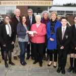 Cheque presentation at Brownlow Integrated College - Photograph by Declan Roughan